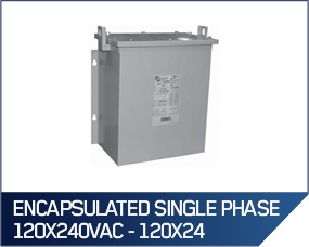 "Hammond ""Fortress"" Encapsulated Single Phase 120X240VAC - 120X24"