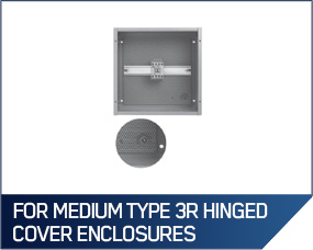 Hoffman Panels For Medium Type 3R Hinged Cover Enclosures