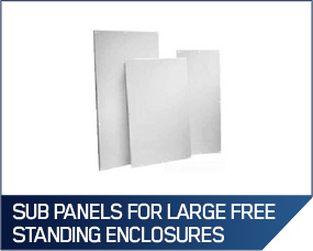 Hoffman Sub Panels For Large Free Standing Enclosures