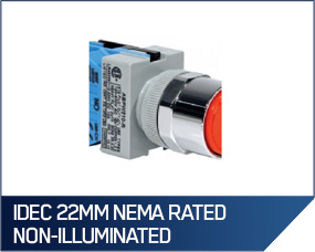 IDEC 22MM NEMA Rated Non-Illuminated Assembled Pushbuttons