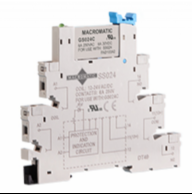 Macromatic GS24C, 24VAC/DC 6 amp 6mm Din Rail