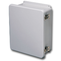 "Stahlin J604HLL, 6""X6""X4"" Opaque Cover ""HLL"" Configuration – Hinged, Twist Latches"